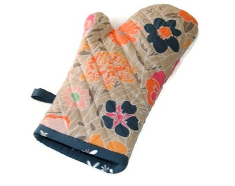 Floral Oven Mitt - Gift for Foodie - Gift Under 20