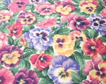 Pansies Fabric Colorful New By The Fat Quarter