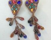 Vintage karen landon designer earrings
