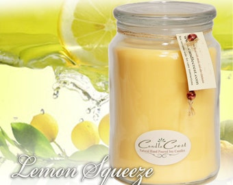 Lemon Squeeze - Fresh Clean Scented Soy Candle Fragrance, Lemon Scented Candles
