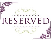 Reserved Order for Nyanda!  Do not purchase unless you are Nyanda.