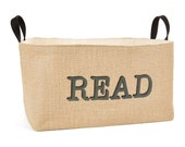 20% OFF! Read Burlap Storage Bin