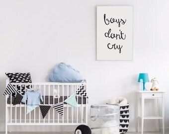Boy's Don't Cry - Customizable Colors -  Nursery Print - Modern Baby Room - Baby Boy Nursery Art Print