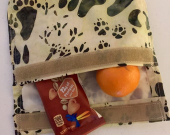 Eco friendly reusable snack bag