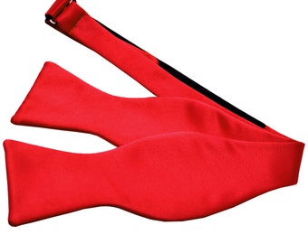 Men's Solid Red Self-Tie Bowtie, for Formal Occasions