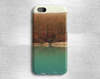 iPhone 6S Autumn Case Trees and Lake - Available for iPhone 6, iPhone 5s/5, iPhone 5c, iPhone 4s/4, Samsung Galaxy S4 and Galaxy S5