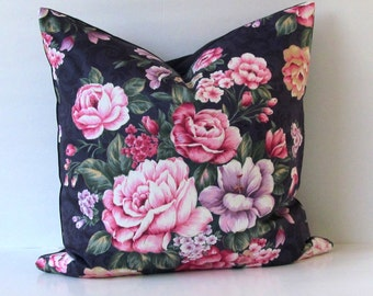 Shabby Chic Vintage Inspired Decorative Pillow Cover 18 x 18 / 20 x 20 / 22 x 22 / 24 x 24 Handmade in the USA