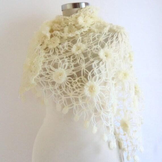 SHAWL CROCHET ,Bride ,Shawl ,Hand, Crocheted new year gift Wedding, Shrug, Ready to ship ,Gift for you,collar,cowl,stole,shawl,bride