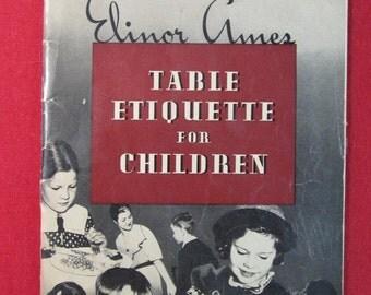 Table Etiquette For Children