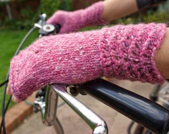 Fingerless Gloves, Women's Gloves, Wool Mittens, Winter Gloves, Size M, Gift for Her