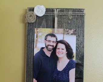 rustic picture holder