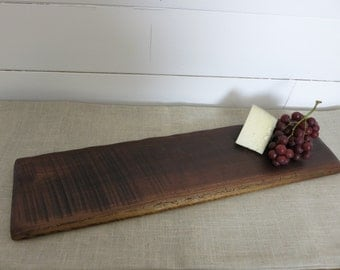 Rustic walnut food server