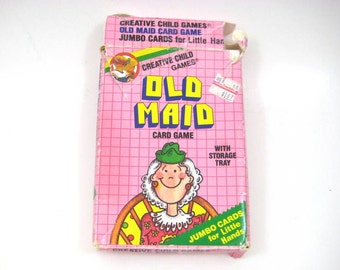 Vintage 1986  Old Maid Giant Card Game - Creative Child Games, Complete Set, 17 Pairs in Original Box, Rock Star, Carpenter, Ballerina