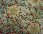 Comforter/Quilt  whole cloth floral with paisley leaves from the 1940's