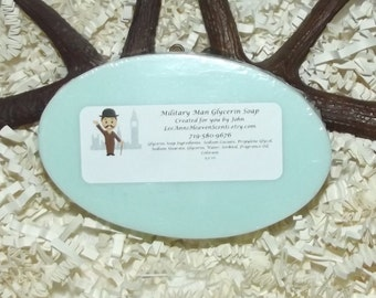 Military Man Glycerin Soap, Mens Glycerin Soap, Soap for him