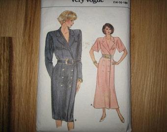 Vogue Pattern 9803 Misses' Dress    1987     Uncut