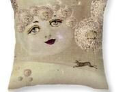 Pastoral Dreams A Moon's Wish Surreal Art Dream Pillow Decorative  Dandelion Moon Home Decor Pillow Annabelle GhosTales