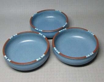 Dansk Mesa 3 bowls , soup cereal , blue