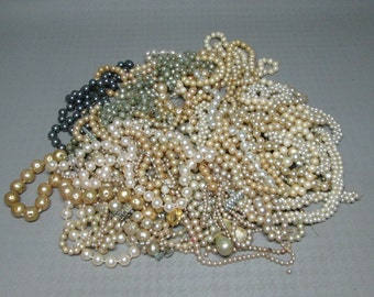 a bag of vintage pearls ,  weighs over three lbs AS IS for crafts projects ?