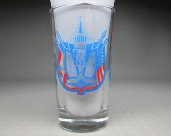 Top Of The Mart glass new orleans vintage souvenir
