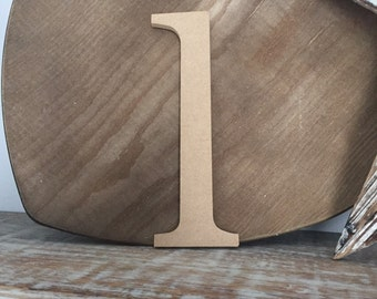 wooden letters, wall letter, not free-standing, unpainted, Roman font, lowercase L,  19.5cm - READY TO SHIP