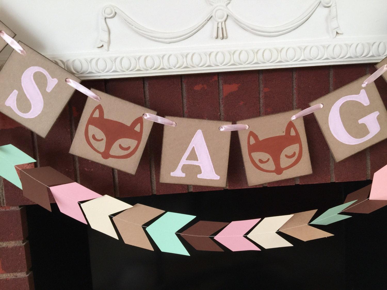 woodland fox baby shower decorations tribal baby shower