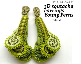 "Tutorial: 3D earrings ""Young Ferns"""
