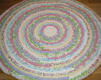 Handmade Spring Colors Rag Rug\\Pastel Colors Rug - for Etsy