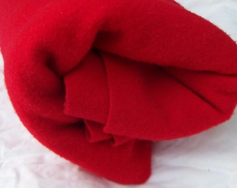 Bright Red Pendlton Felted/Fulled Wool Fabric