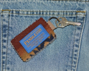 Pendleton® Keychain Key Fob Key Ring Key Chain - Desert Southwest Native American Pendleton® Wool blanket weight