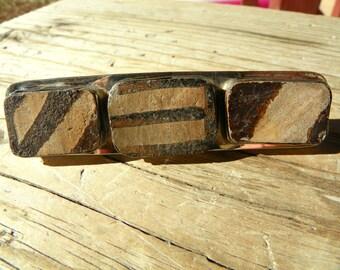 Anasazi pottery shard and sterling silver pin