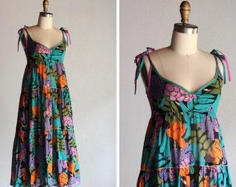 Vintage Cote D'Azur Floral Dress