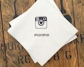 Custom Hashtag Wedding or Birthday Party /  Claim your HASHTAG / Set of 500 napkins / Cocktail Napkins / Instagram / Hashtag Wedding