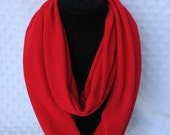 Extra Wide Red Infinity Scarf - Beautiful Bright Red Accessory - Great Holiday Gift - Festive Red Scarves