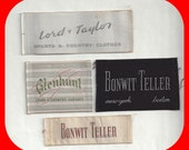 Vintage Embroidered  Sew In Clothing Labels Lord & Taylor Bonwit Teller Glenhunt