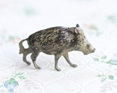 Wild Board - lead Animal - Antique Iron Cast Toy Figurine - Made in England by Britains Ltd