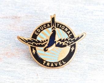 Educational Travel Enamel Badge - Lapel Pin - M W Miller Ltd Made in England