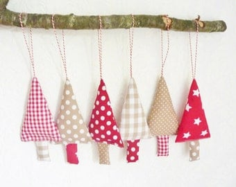 Fabric christmas ornaments tree decoration