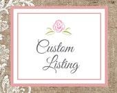 Custom Listing for Jenny - One Flower Clip & One Rolled Flower Headband