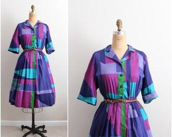 "Vintage ""Draper's & Damon's"" Summer Dress / Cotton Dress / Day Dress/ Size L/XL"