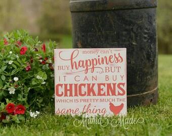 Chicken Sign - Chicken Art - Chicken Wall Art - Chicken Wood Sign - Chicken Decor - Chicken Gift - Chicken Farmer - Farm Sign