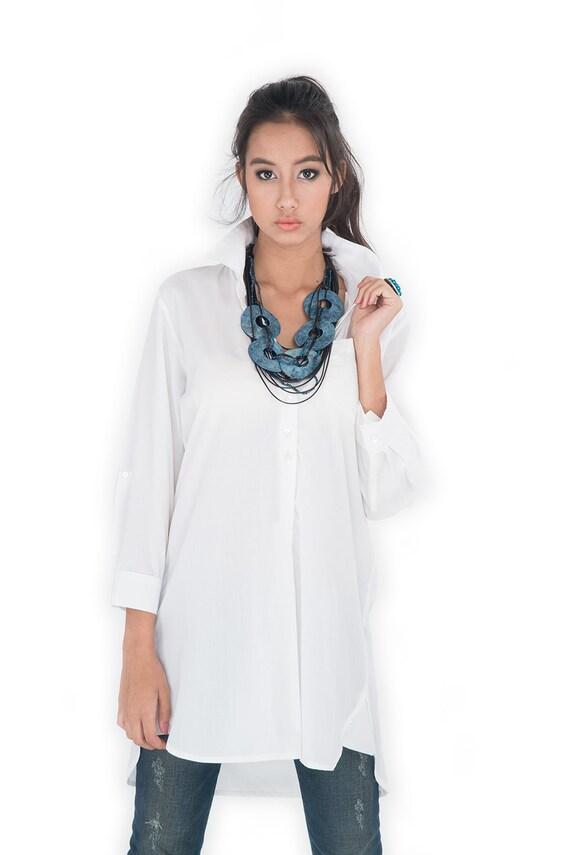 White Shirt Long Shirt Women 39 S Shirt Tailored