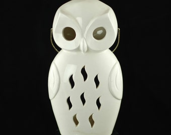 Vintage Ceramic Owl Lantern Votive Candle Holder  - SRG Japan