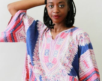 gorgeous vintage cotton dashiki printed top