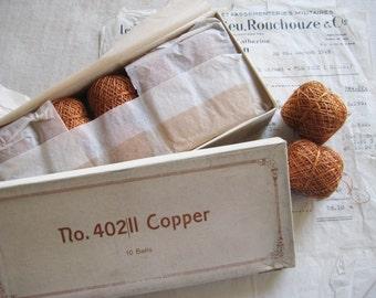 1 Box-10 Balls Vintage/Antique Copper Twist 3ply Metallic Thread Fly Tying