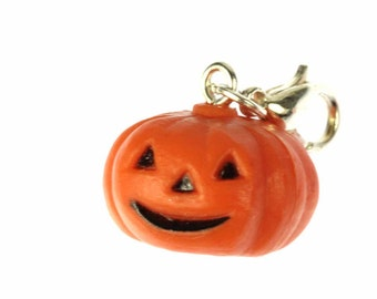 Pumpkin Halloween vegetables charm zipper pull charm pendants of Miniblings 3D