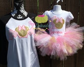 Pink and Gold Mouse TuTu Birthday set