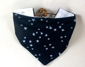Heirloom fashion bibdana black and silver stars
