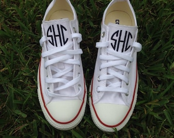 Converse Monogram Transfers/Circle Monogram/Customized Shoes