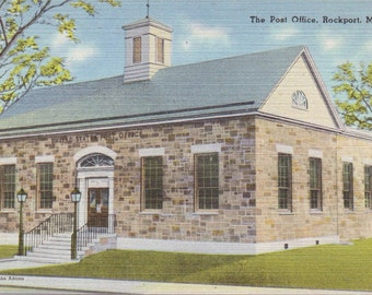 Rockport, Maine, Post Office - Vintage Postcard - Postcard - Unused (G)